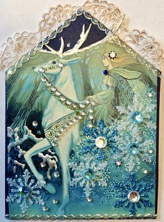 Winter Fairy Gothic arch ATC