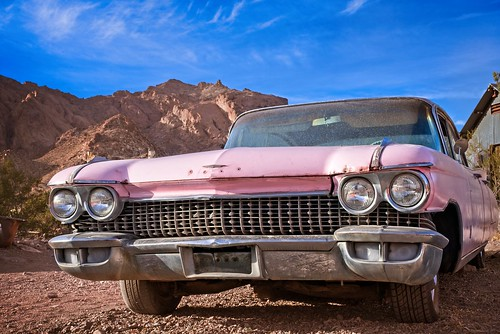 Pink Cadillac in Desert 5555 F