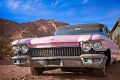 Pink Cadillac in Desert 5555 F (jim.choate59) Tags: desert jchoate nelsonnevada abandoned car pink cadillac d610 on1pics lasvegas