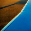 ready for take-off (MyArtistSoul) Tags: bur burbankairport airplane wing blue sky reflection shiny polished aluminum metal diagonal shadow taxifortakeoff lines tarmac concrete grooves pattern texture urban square 3319 s100