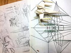 I just started drawing a diagram of the X-wing Fighter origami High grade version (Matayado-titi) Tags: sugamata spaceship starship starwars starfighter shusugamata origami xwing diagram