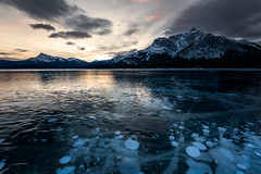 Abraham Lake (Bruce Patterson2011) Tags: abraham lake mountains ice winter methane bubbles