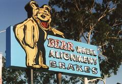 Bear Automotive. Corona, CA. (lammyracer) Tags: corona america anaheim neon tire minolta x700 agfa 35mm film