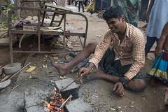 Gypsy community, Pondicherry (Stuart-Cohen) Tags: pondicherry india gypsy gypsies slum cooking samugamtrust poverty