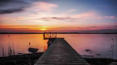 Morning Palette (Jens Haggren) Tags: morning sunrise newday sky colours palette sea water reflections jetty seascape landscape view nature le longexposure olympus em1 nacka sweden jenshaggren