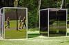 Caught in action (Antropoturista) Tags: thenetherlands kröllermüllermuseum sculpture people park mirror dangraham