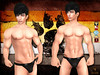 Horny Bull Black Brief Poster (stephentryce) Tags: men boys guys briefs thongs speedo fashion underwear undies boxers sexy sl secondlife virtual fantasy