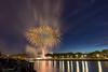 14 juillet à Rouen (eng2605) Tags: nuit artifice feu seine rouen pont flaubert