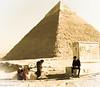 Chefren_Camel-140430 (JoE RipA) Tags: egypt egitto pyramid piramidi chefren camel cammello dromedario sepia joeripa giza cairo desert