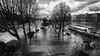 Paris under water (karholle) Tags: paris city water flood france météo outdoor canon blackandwhite noiretblanc inondation eos5dmarkii exterieur winter