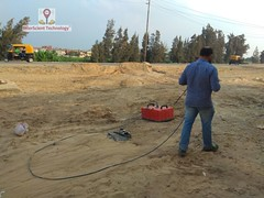 GPR survey for geotechnical assessment at sharqia (InterScient) Tags: interscienttechnology egypt geophysics geophysicalsurvey gpr geotechnical antenna