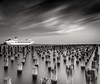 Getting ready to leave (Gary Eastwood) Tags: blackandwhite ndfilters longexposures ship nisifilters nikon nikond750 jetty jettyruins pier po melbourne