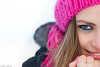 half smile :) (keriarpi) Tags: beauty beautiful people cute pretty attractive smile face eyes eye hand hair winter cap scarf portrait nice girl woman blond brunette