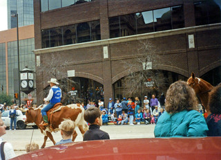 Found Photo of Fort Worth Stock Show Parade, 1990s