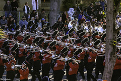 76 Trombones (Thad Zajdowicz) Tags: zajdowicz pasadena california roseparade 2018 usa outdoor outside canon eos 5dmarkiii 5d3 digital dslr color colour festive availablelight lightroom ef70200mmf4lisusm people music marchingband universityofgeorgia uniforms street city urban parade red trombones brass