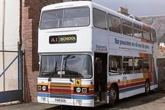 STAGECOACH A1 SERVICE 910 F149XCS F523WSJ (bobbyblack51) Tags: stagecoach a1 service 910 f149xcs f532wsj leyland olympian duff ardrossan ardrossandepot 1996