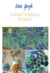 Van Gogh-Inspired Wedding Bouquet by Alessandra Fabre Repetto (all things paper) Tags: papermache paperflowers paperbridalbouquet papersculpture greenweddings ecofriendly earthfriendly ecoweddingdesign bridalbouquet