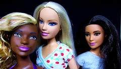 So different (Nickolas Hananniah) Tags: barbiefashionistas barbiedoll barbie hobbit tango fashiondoll fashion africandoll blonde latina portrait trio model posing studio toy