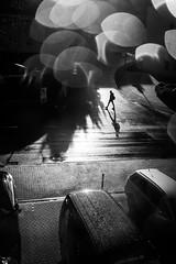 There are Onionrings in the Air (AlphaAndi) Tags: mono monochrome menschen menschenbilder leute personen people portrait urban trier tiefenschärfe wow rainy dof sony backlight gegenlicht streets streetshots streetshooting streetportrait city fullframe vollformat
