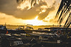 Atardecer en San Andrés. (santiagoshg) Tags: sun tarde sunset boat boats clouds nubes bote botes mar sea sky landscape nikon nikond5500 afternoon foto fotografia flickr photo photography paisaje