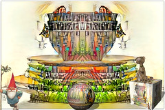 Down at the kids' library (PaulO Classic. ©) Tags: 3d googledeepdream photoshop picmonkey