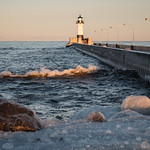 Canal Park, Duluth 1/23/18 #winter #ice #wave #lighthouse #lakesuperior thumbnail