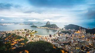 As day becomes night @Mirante Dona Marta, Rio de Janeiro, Brazil