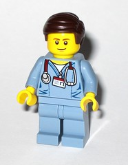 dr mc scrubs minifigure from lego 70811 the lego movie the flying flusher 2014 a (tjparkside) Tags: lego 70811 movie 2014 flying flusher joes plumbing plumbers van with plumber joe dr doctor mc scrubs mcscrubs alfie apprentice minifigure minifigures mini fig figs figure figures micro manager mangers 2 1 toilet bricksburg battle ladder wrench tools aeroplane propeller water plunger city instruction instructions manual booklet