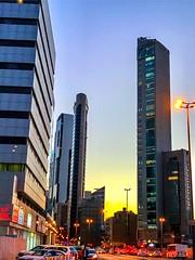 Kuwait City (basem_teacher) Tags: iphoneshot iphone7plus awesomeshot scenery scene view tower article sky sunsetmoments moments sunset kuwaitcity kuwait
