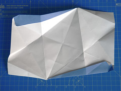 Tetrahedral Tip Unit (THT) (ISO_rigami) Tags: modular origami 3d a4 unit eckhardhennig tetrahedral star stellated module creasepattern cp paper equilateral