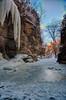 Winter at Tonti Canyon (kendoman26) Tags: hdr nikhdrefexpro2 niksoftware nikon nikond7100 tokinaatx1228prodx tokina tokina1228 starvedrockstatepark travelillinois enjoyillinois icefall tonticanyon