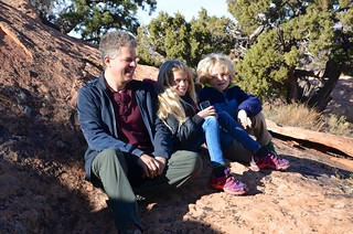 Peter & The Kids At The First Overlook On The Upheaval Dome Trail