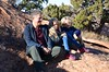 Peter & The Kids At The First Overlook On The Upheaval Dome Trail (Joe Shlabotnik) Tags: november2017 nationalpark proudparents utah violet 2017 canyonlands peter everett canyonlandsnationalpark afsdxvrzoomnikkor18105mmf3556ged faved zeroviewsonefave