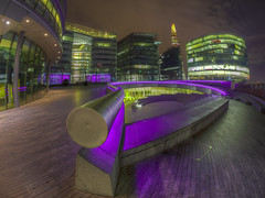 violet and green london sweet dreams (Wizard CG) Tags: london tower bridge city hall europe uk cityscape england architecture modern urban wide angle outdoor fisheye long exposure epl7 hdr samyang fish eye olympus great britain gb night shot nocturnal united kingdom