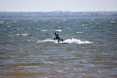 Kiteboarding at Lake Hefner (Andrew Penney Photography) Tags: kiteboarding kiteboard surf surfing kitesurfing lakehefner 405 water watersports slingshot sail kite jumping tricks flight up