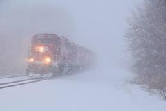 Snowy CPBN Transfer (wc_sd45_7500) Tags: cp cpbn union jct gp20c gp20ceco gp382 sd60 canadian pacific train trains railroad snow snowing