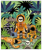 Lost Contact (Jack Teagle) Tags: drawing deadastronaut undead zombie cosmic space sciencefiction scifi