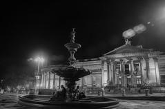 Stebble Fountain (Tony Shertila) Tags: centralward england gbr liverpool unitedkingdom geo:lat=5340948709 geo:lon=297908664 geotagged europe merseyside britain fountain statue structure night gallery building architecture outdoor light
