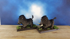 Wild-Boar-Dire-Pig-Painted-Miniature-01 (Dead Bard Miniatures) Tags: dd dungeons dragons reaper ralpartha grenadier warhammer wotc chainmail pathfinder painted miniature mini