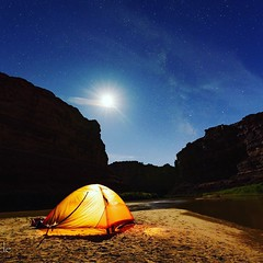 Under the stars (kathy_wade) Tags: utah coloradoriver nightsky cateractcanyon riverrafting moab tents