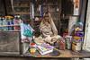 Small shop (Dick Verton ( more than 12.000.000 visitors )) Tags: shop sit sitting varanasi india asia traveling streetimage streetview woman