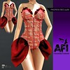 AFI Designs ~ PROFESS RED OUTFIT AD (ladjgirl) Tags: valentines maitreya mesh applier red sexy lingerie secondlife sl lace sheer pasties ruffles