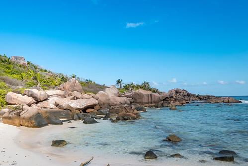 Rock Pools at Petite Anse Cocos La Digue Seychelles