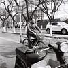 Motion blur (KANAPHOTO :D) Tags: beijing blackwhite bicycle between rolleflex china iiford kanafilmphoto while people shadow dark highlight filmcamera road life light mediumformat