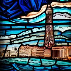 Sacred Heart, Blackpool (Rhisiart Hincks) Tags: townscape treflun karrez square sgwâr beirate gwerlivet vitrailh eglwysgatholig rc church eglwys england lloegr sirgaerhirfryn lancashire fylde aod tŵr seaside glanymôr tower blackpool sacredheart stainedglass gwydrlliw
