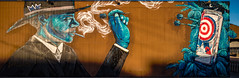 Pabst Blue Ribbon (Dennis Valente) Tags: streetarteverywhere usa muralist art contemporaryurbanart rrs streetart painting hdr isobracketing spraypaint 2017 5dsr urbanart artist reallyrightstuff painter muralart aerosol arizona wall phoenix streetartistry mural