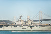Fire Power (Thomas Hawk) Tags: america bayarea baybridge california navy sf sanfrancisco usa unitedstates unitedstatesofamerica westcoast battleship boat bridge military ship