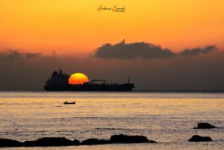 Sunrise on Algeciras bay.