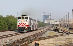 Bye Dallas (GLC 392) Tags: trwx 126 trinity railway express mocking bird yard emd gmd f59ph dallas tx texas evening rush dgno passenger train railroad