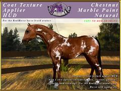E-RH-SkinApplierHUD-MArble-Natural (honeyheart1) Tags: horse skin coat pelt realhorse applier sl secondlife eliteequestrian